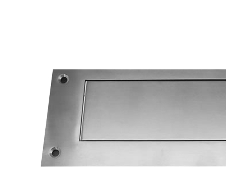 Stainless Steel Interior Letter Flap, 330mm X 110mm, Polished Or Satin Finish - 34512/13