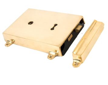 From The Anvil Rim Lock & Cover, Polished Brass - 35000