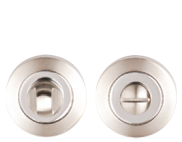 Excel 'Dual Finish' Turn & Release, Satin Nickel & Polished Chrome - 3622