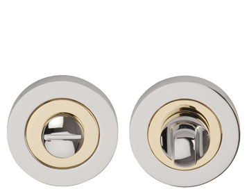 Excel 'Dual Finish' Turn & Release, Polished Chrome & Polished Brass - 3632