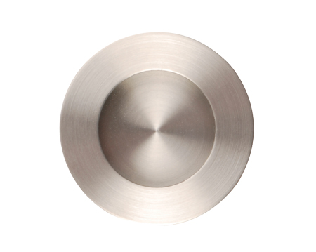 Excel Plain Circular Flush Pull (50mm), Satin Stainless Steel - 3802