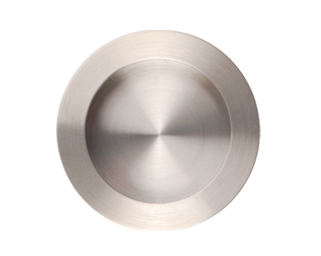 Excel Plain Circular Flush Pull (70mm), Satin Stainless Steel - 3804