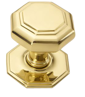 'Croft Architectural' Flat Octagonal Centre Door Knob, 70mm Dia, Various Finishes Available* - 4185B