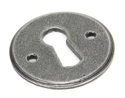 From The Anvil Round Standard Profile Regency Escutcheon, Pewter - 45123
