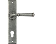 From The Anvil Regency Lever Espagnolette Door Handles (92mm C/C), Pewter - 45129 (sold in pairs)