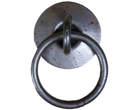 Cottingham Ring and Backplate Handle (47mm), Antique Iron - 49.079.AI.47
