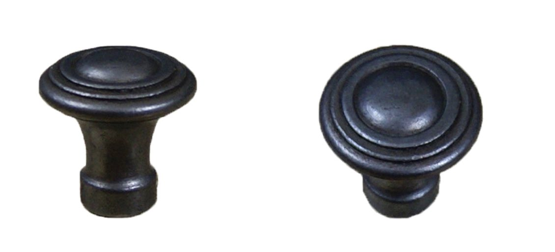 Cottingham 'Circular Rings' Cupboard Knob (35mm), Antique Cast Iron - 49.086D.AI.35 None