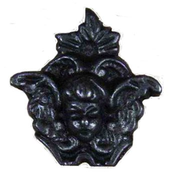 Cottingham 'Fairy' Cupboard Knob (45mm), Antique Cast Iron - 49.086Q.AI.45 None