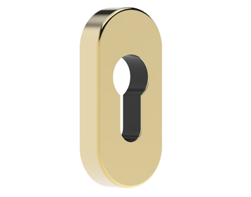 Mila Supa Standard Escutcheon (32mm x 70mm) Grade 316, Polished Gold Finished Stainless Steel - 579004 (sold in singles)