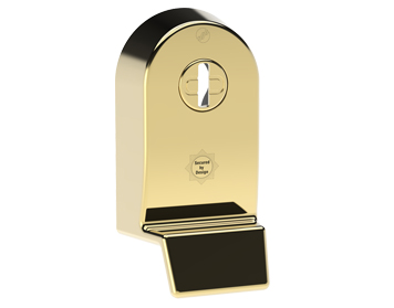 Mila 'Supa Secure Pull' Escutcheon (53mm x 97mm) Grade 304, Polished Gold Finished Stainless Steel - 579064 (sold in singles)