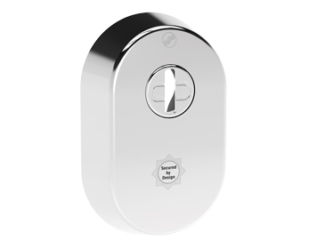 Mila Supa Secure Escutcheon (52mm x 80mm) Grade 304, Polished Stainless Steel - 579081 (sold in singles)