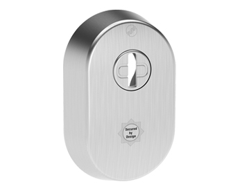 Mila Supa Secure Escutcheon (52mm x 80mm) Grade 304, Brushed Satin Stainless Steel - 579082 (sold in singles)