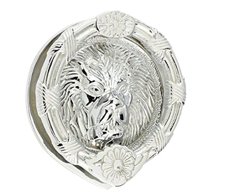 Mila 'ProLinea' Round Lion Head Door Knocker (6