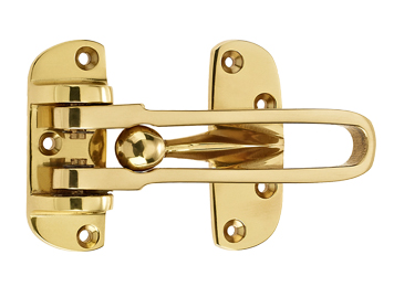 Mila ProLinea Door Guard For Timber & Composite Doors, Polished Gold Finish - 590504