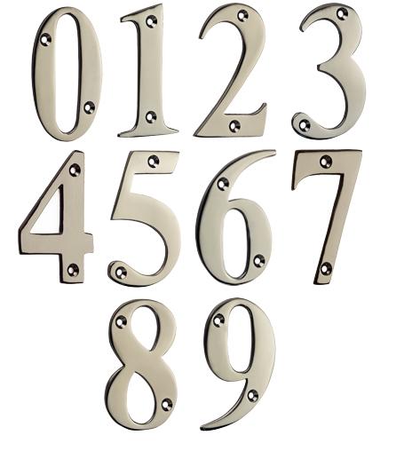 Mila u0027Prolineau0027 0-9 Screw Fixing Door Numerals (72mm - 3  sc 1 st  Door Handle Company & Mila u0027Prolineau0027 0-9 Screw Fixing Door Numerals (72mm - 3