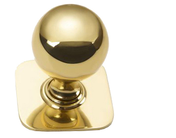 'Croft Architectural' Ball Centre Door Knob With Square Rose, Various Finishes Available* - 6406