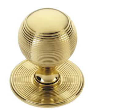 'Croft Architectural' Reeded Ball Centre Door Knob, Various Finishes Available* - 6407