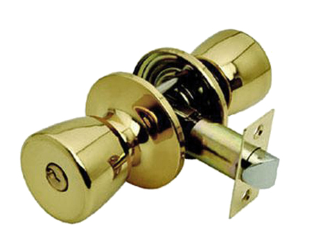 Excel 'Guardian' Passage Door Knobs, Polished Brass - 650