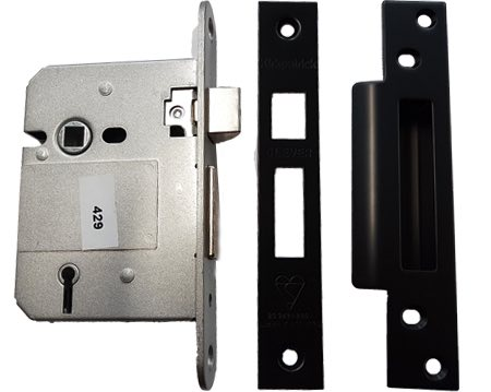 Kirkpatrick 5 Lever Sash Locks, Smooth Black Finish - AB7002