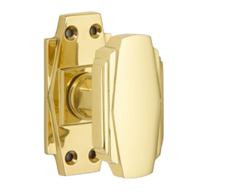 'Croft Architectural' Art Deco Mortice Door Knobs, *Various Finishes Available - 7005 (sold in pairs)
