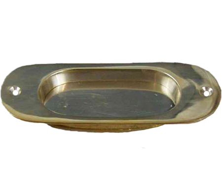 Cottingham 'Round End' Flush Handle (125mm), Polished Brass - 70.069.AI.125