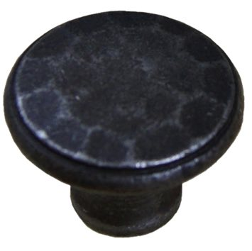 Cottingham 'Hammered Top' Cupboard Knob (38mm), Antique Cast Iron - 70.086D.AI.38 None