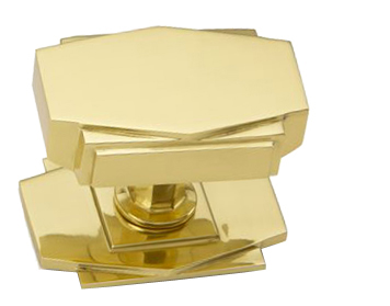 U0027Croft Architecturalu0027 Art Deco Centre Door Knob, Various Finishes  Available*   7013. U0027