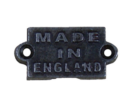 Cottingham 'Made In England' Plaque (35mm x 40mm), Antique Iron - 70.340A.AI.40