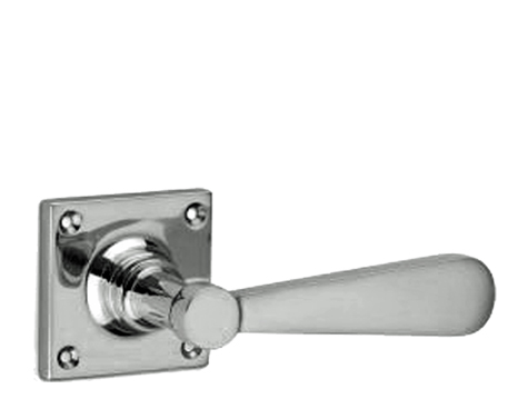 'Croft Architectural' Streamline Moderne Lever On Square Rose Door Handles, *Various Finishes Available - 7040 (sold in pairs)