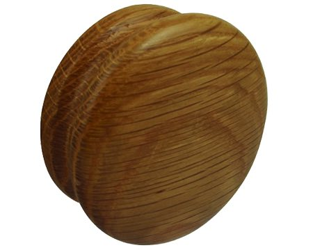 Hafele Wood Bun Knob (70mm), Oak Lacquered - 195.83.400