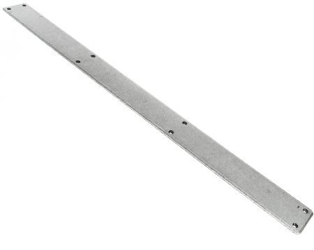 Plain Fingerplate, Pewter, Beeswax Or Black, 800mm Or 1800mm - 73176