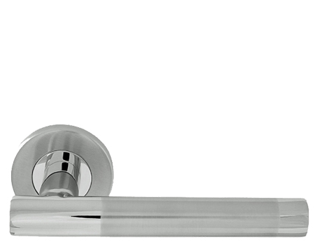 Straight Duo, Polished & Satin Stainless Steel Door Handles - 8106DUO (sold in pairs)