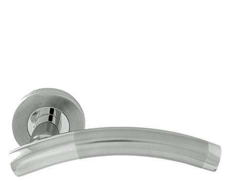 Arched Duo, Polished U0026 Satin Stainless Steel Door Handles   8107DUO (sold  In Pairs
