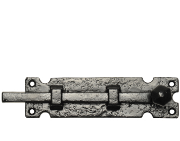 Kirkpatrick Black Antique Malleable Iron 'Straight Door Bolt' (Multiple Sizes) - AB812