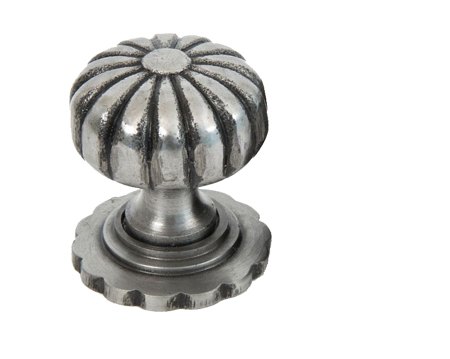 Cabinet Knob With Base (32mm Or 38mm), Natural Smooth - 83510