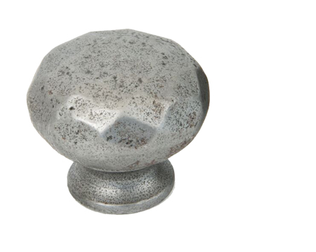 Hammered Cupboard Knob (32mm Or 38mm), Natural Smooth - 83515