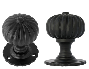 Flower Mortice Knob Set, Black - 83560