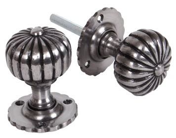 Flower Mortice Knob Set, Natural Smooth Finish - 83561