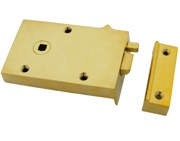 From The Anvil Left Or Right Handed Bathroom Latch, Polished Brass - 83570