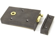 From The Anvil Left Or Right Handed Bathroom Latch, Iron - 83575