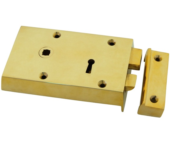 Solid Brass Small Surface Mounted Lock with Key
