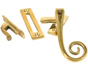 From The Anvil Cast Monkeytail Window Fastener, Polished Brass - 83593