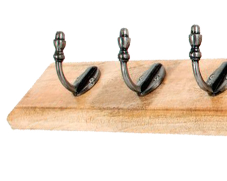 Stable Coat Rack, Natural Smooth & Timber - 33740