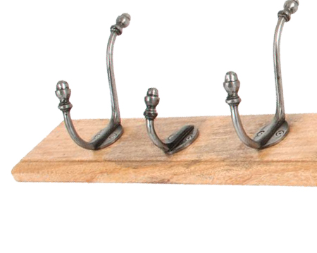 Country Hat & Coat Rack, Natural Smooth & Timber - 83744