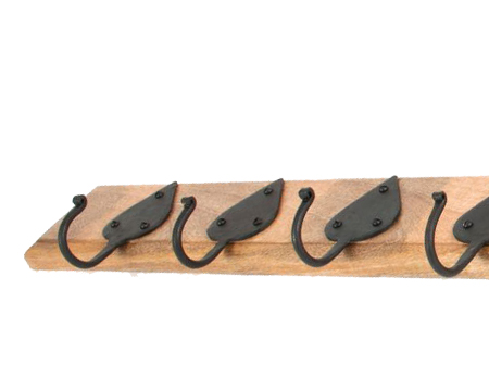 Cottage Coat Rack, Beeswax & Timber - 83746