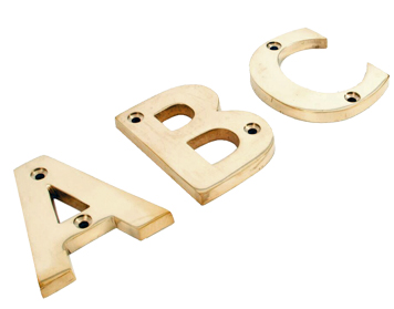 From The Anvil Letters (A-Z), Polished Brass Finish - 83801