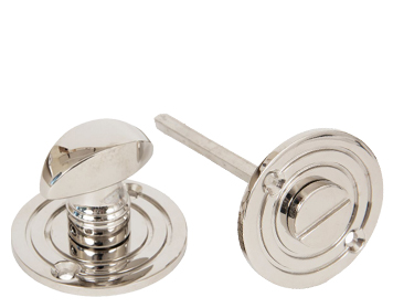 Round Bathroom Thumbturn, Polished Nickel - 83824