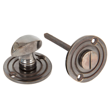 Round Bathroom Thumbturn, Antique Brass - 83826