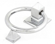 From The Anvil Ring Door Knocker, Polished Chrome - 83837