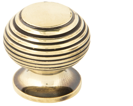 Beehive Cabinet Knob (30mm), Antique Brass Or Polished Nickel - 83865